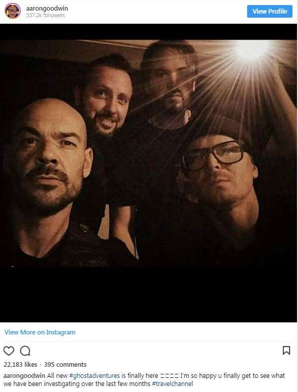 Gang Aaron Goodwin Posts A Picture Of The Ghost Adventure Crew On 17 June 2018 Photo Win S Instagram
