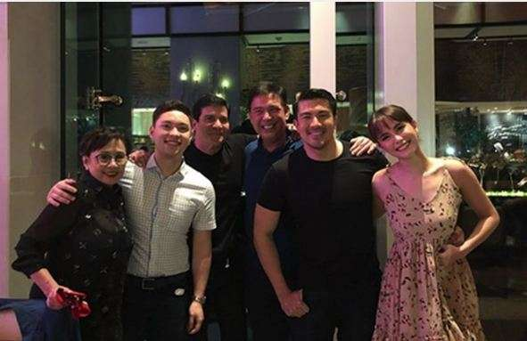 Reunited At Last Edu And His Ex Wife Vilma Santos In 2018 Their Son S 37th Birthday Photo Lucky Manzano Instagram